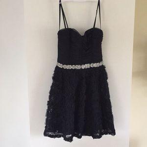 Trixxi Macy rosette ruched beaded waist dress 5